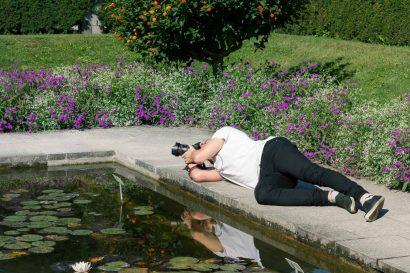Fotograf Lieblingspose Botanischer Garten Augsburg