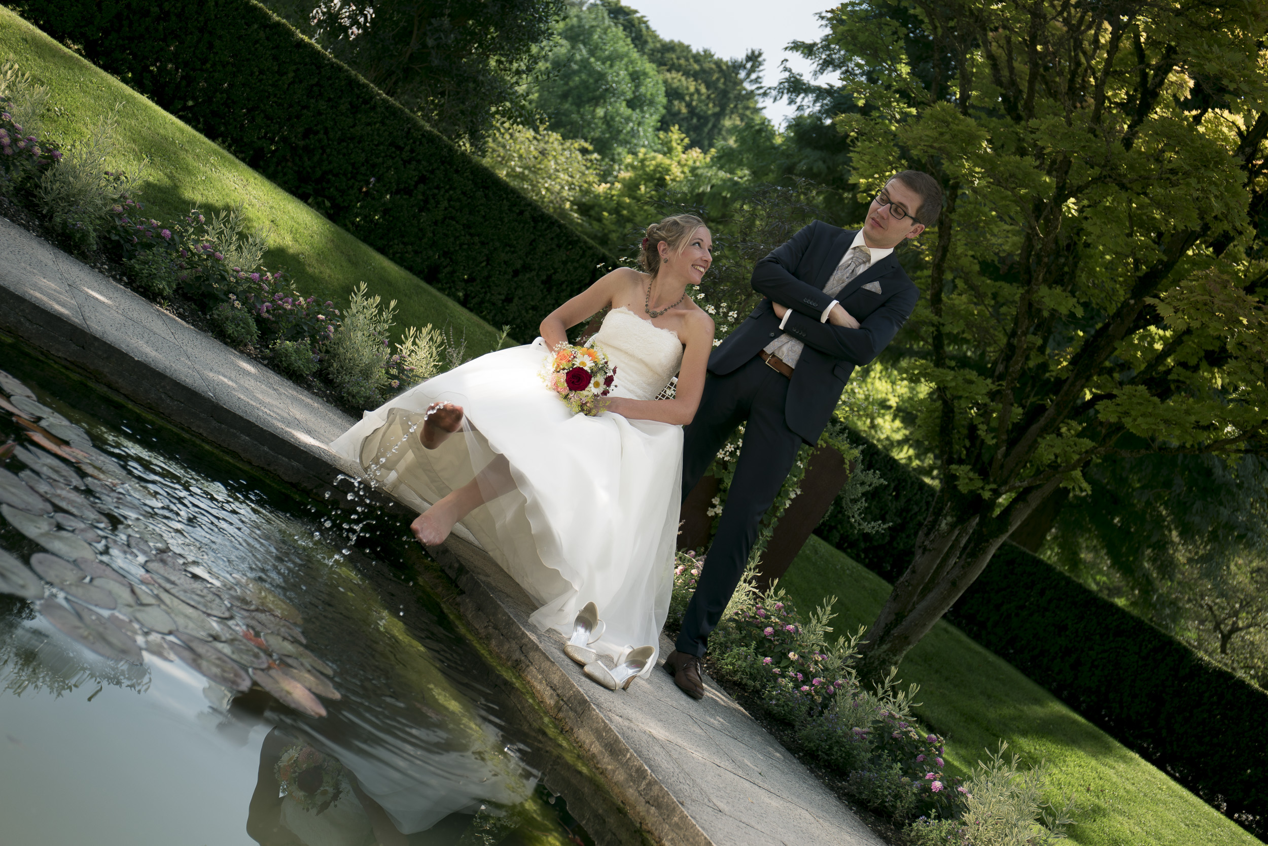Paarshooting botanischer Garten Augsburg Hochzeitsfotografie