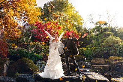 Hochzeitsfotografie Augsburg Botanischer Garten Zammgfasst