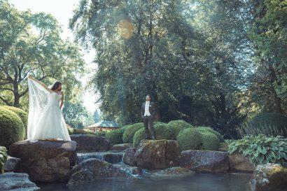Hochzeitsfotograf Augsburg Fotoshooting im botanischen Garten