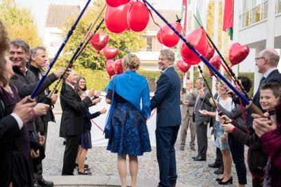 Rosenspalier Hochzeitsfotograf München