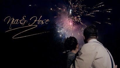 Screenshot weddingvideo braut und bräutigam feuerwerk deutsch türkisches paar