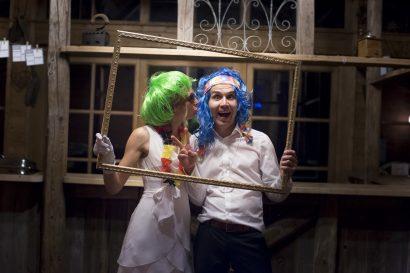 Hochzeitsfoto im Fotoboxs style