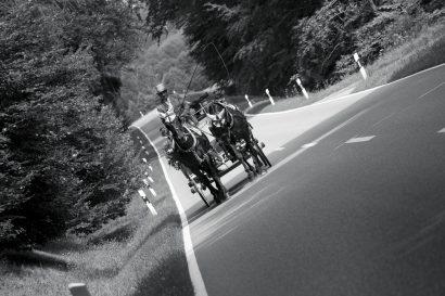 Hochzeit mit Kutsche und Pferden
