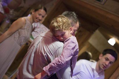 Hochzeitsreportage schlafendes Kind