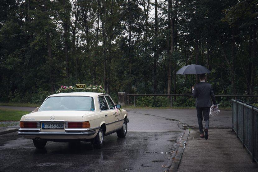 Augsburg Hochzeitsfotografie im Regen