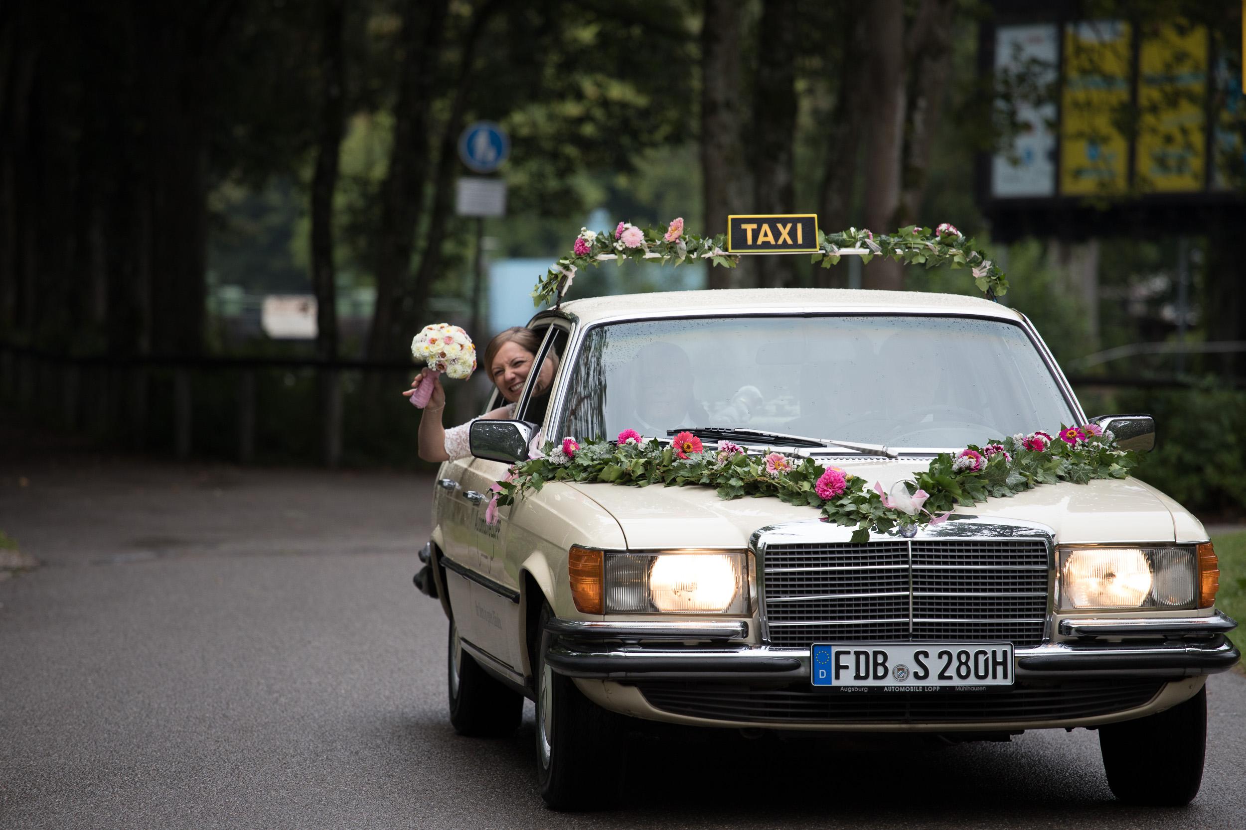 Hochzeitsvideograf Ingolstadt Hochzeitsauto