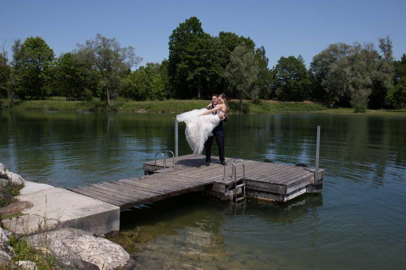 Hochzeitsfotografie Augsburg See After Wedding Shooting