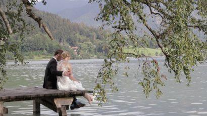 Hochzeitsvideo Insel Wörth Schliersee Paar